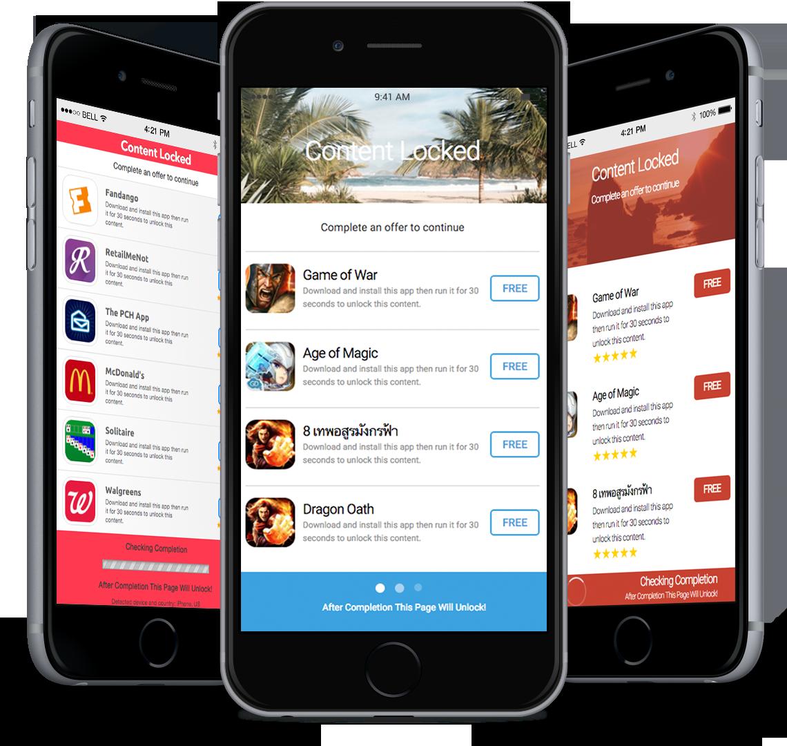 OGAds com   Mobile & Desktop Incentive Affiliate Content Locking Network
